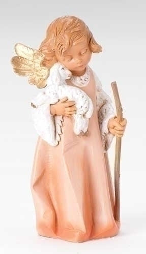 "Angel With Lamb And Staff Fontanini Collection 8""H"