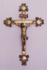 Jesus INRI Budded Wall Cross Cold Cast Bronze Crucifix
