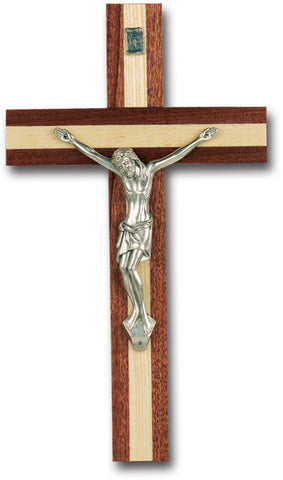 Italian Inlayed Wooden Wall Crucifix