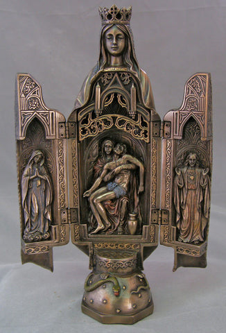 Our Lady of Sorrows Triptych Opens To Show the Pieta