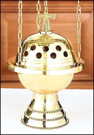 Brass Censer With Chain For Church Incense
