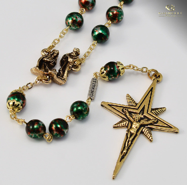 Holy Christmas Gold Plated Rosary By Ghirelli