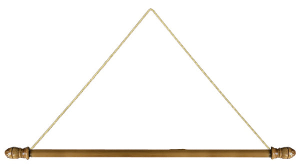 Set of 2 Wood Hangers For Church Banners