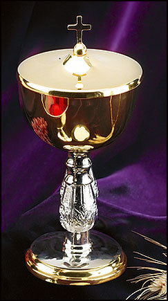 Two Tone Ciborium With Cross Top
