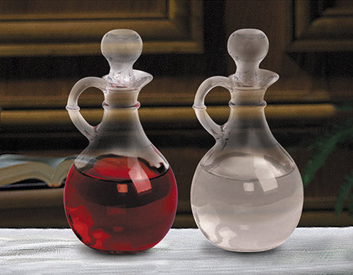 cruet set for the altar glass set of two
