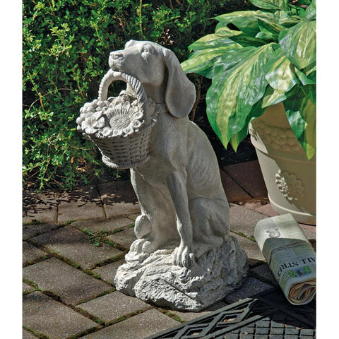 Mans Best Friend Garden Statue