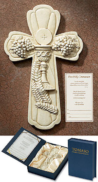 First communion gift cross tomaso