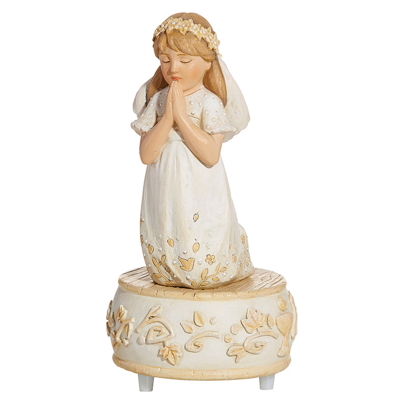First Communion Praying Girl Musical Figure