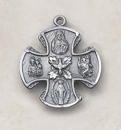 Four Way Medal Cross On Chain  Heritage Collection By Creed In USA