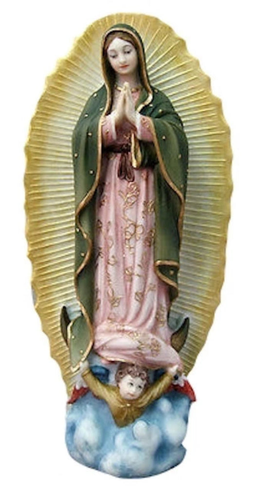 Our Lady of Guadalupe Statue Hand Painted Gold Accents
