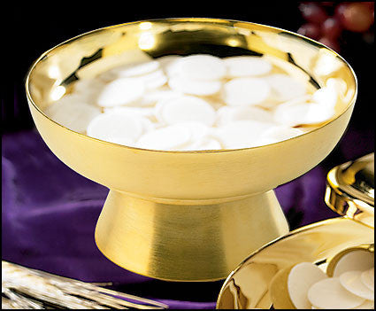 Brass Holy Host Bowl   Holds 500 Communion Hosts