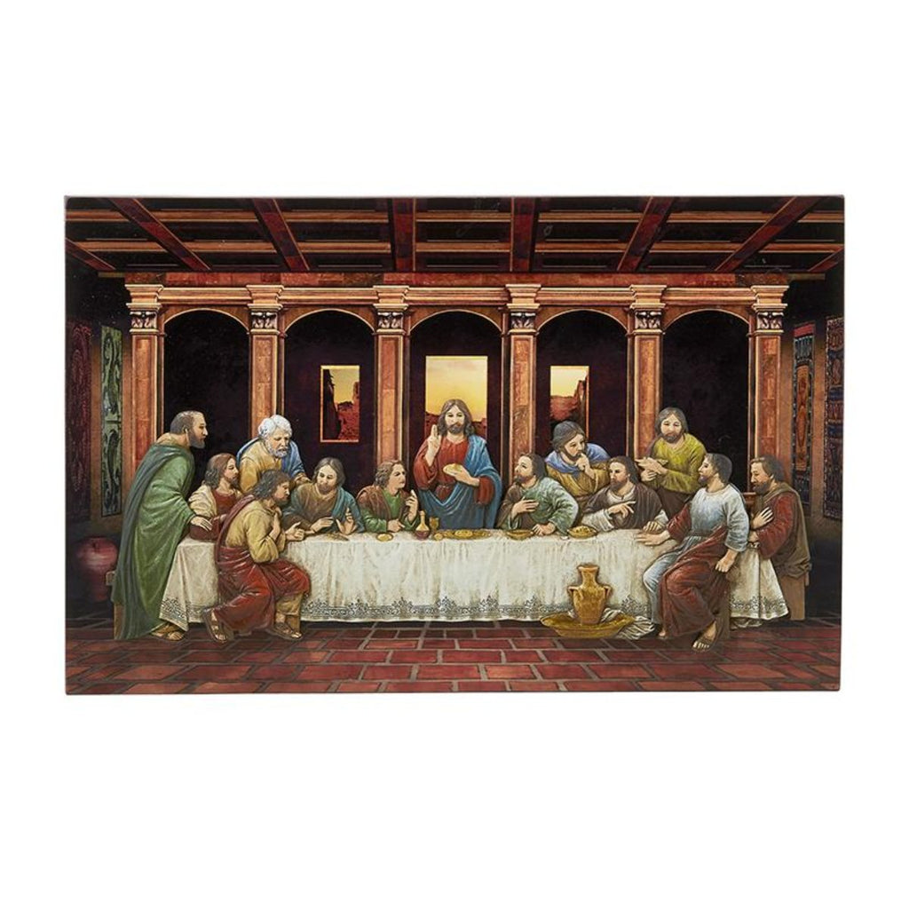 last supper relief style plaque by artist michael adams