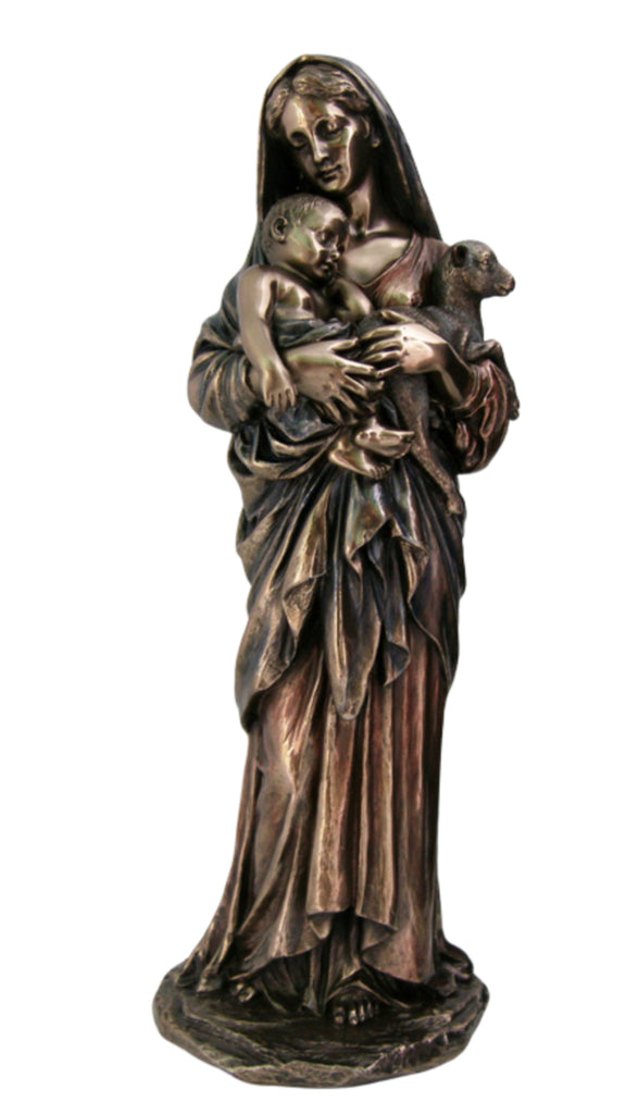 Madonna And Child L'Innocence Bronze Style Statue      Veronese Collection