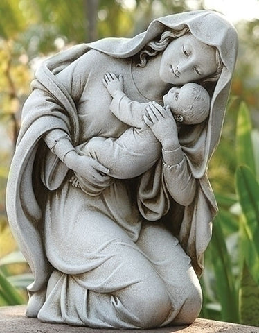 Kneeling Madonna And Child Garden Statue SOLD OUT COMING SOON