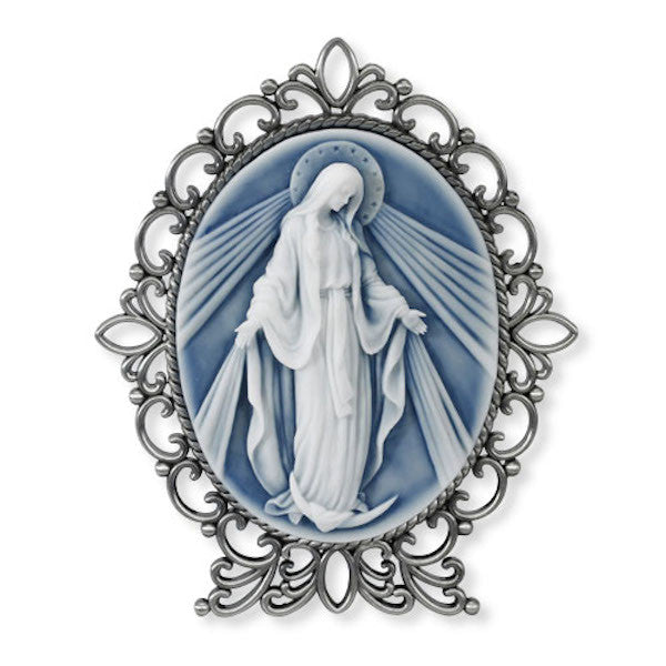 Madonna Our Lady of Grace Cameo Desk Plaque