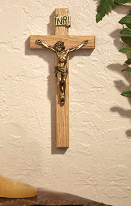 Oak Jesus Wall Crucifix Chapel Or Home Devotional