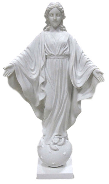 Madonna Our Lady of Smiles religious Statue  in White - Veronese Collection
