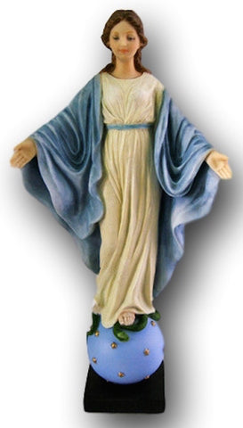 Madonna Our Lady of Smiles religious Statue  in full color - Veronese Collection