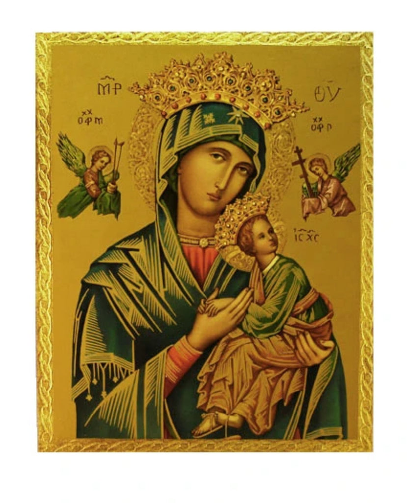 Our Lady of Perpetual Help florentine icon plaque