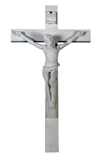 Jesus INRI White Wall Crucifix     Veronese collection