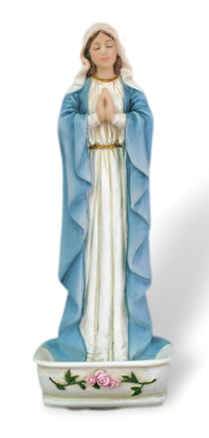 Madonna Our Lady of Grace Rosary Holder or Water Font With Roses