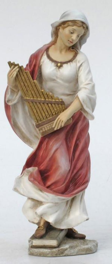Saint Cecilia hand painted statue