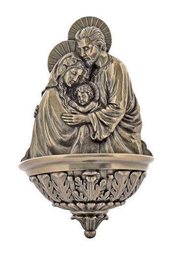 Holy Family Water Font Cold Cast Bronze