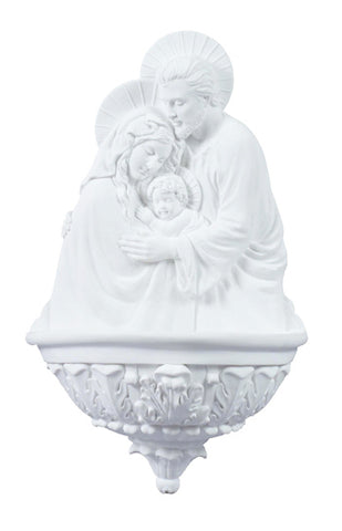 Holy Family Water Font  Elegant White Church Chapel Or Home Prayers
