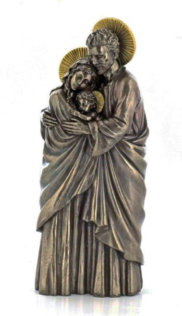 Holy Family statue Mary Jesus Joseph Bronze