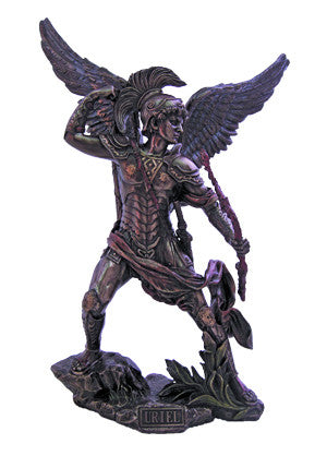 Archangel Uriel Angel Of Light Statue  Veronese Collection