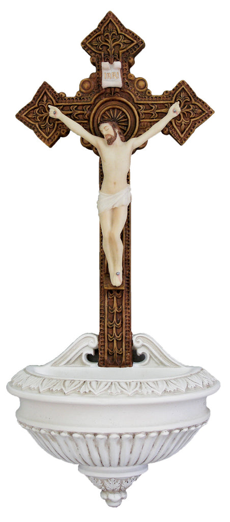 Jesus Crucifixion Holy Water Font  Veronese Collection