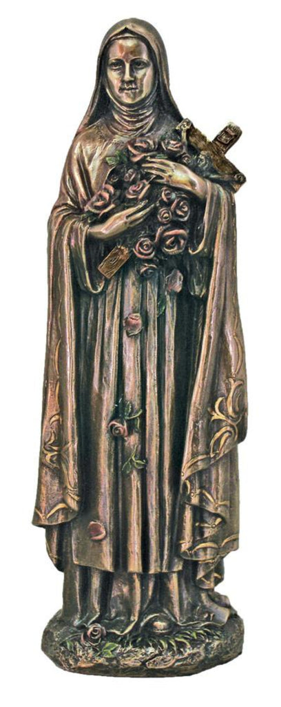 Saint Theresa with roses and cross figure