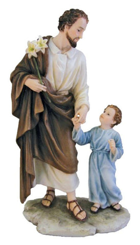 Saint Joseph And Child Jesus Holding Hands Statue  Veronese Collection