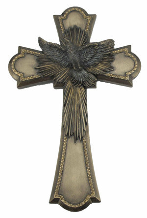Holy Spirit Dove Cross Bronze Color Veronese Collection