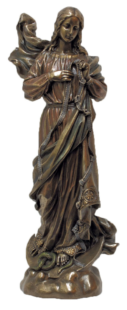 Our Lady of Knots Bronze Style Statue