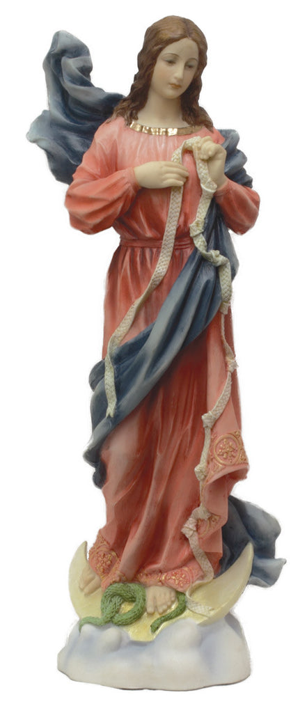 "Madonna Mary Under Knots Madonna Statue Virgin Mary Helps Us Over Come Sin 8"" Veronese Collection"