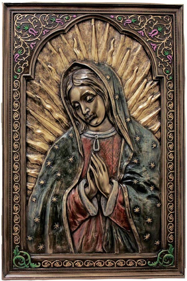 Our Lady of Guadalupe Praying Icon Plaque