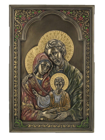 Holy Family Icon Wall Plaque Jesus Mary Joseph