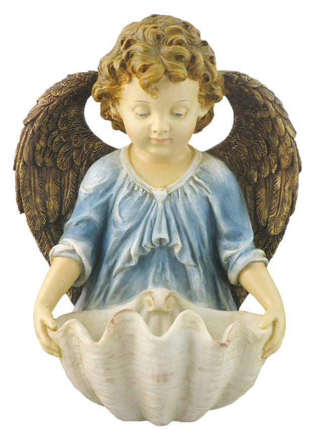 Guardian Angel With Shell Holy Water Font
