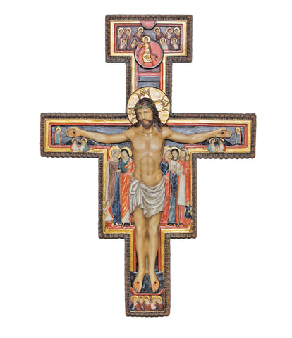 Jesus San Damiano Wall Crucifix -  Cross Of Saint Francis