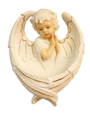 Sweet Guardian Angel Holy Water Font Hand Painted In Italy