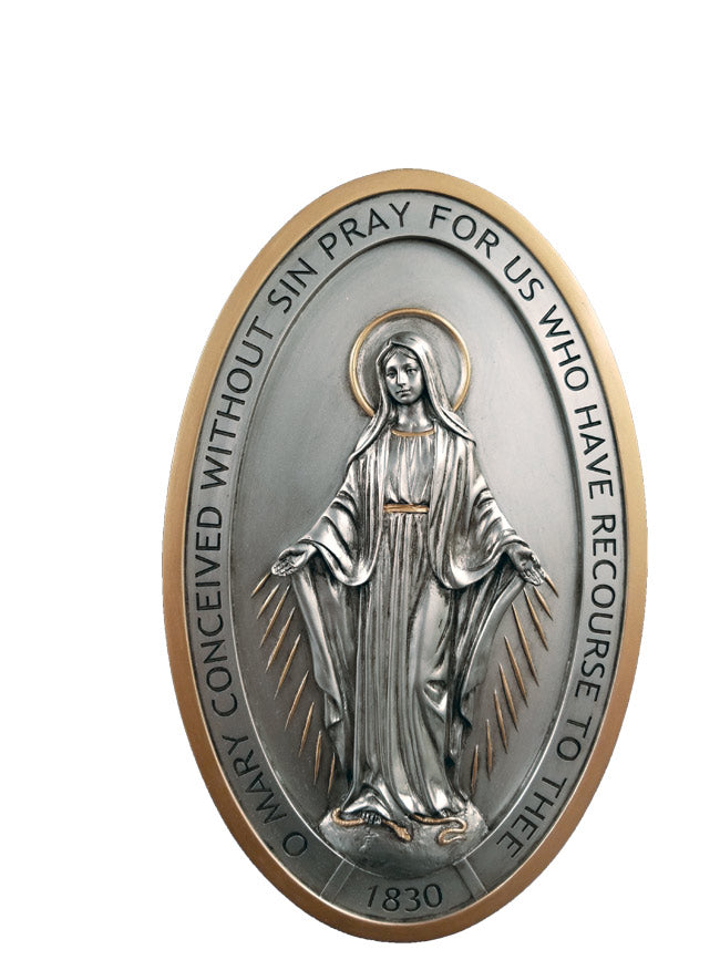 Miraclulous Medal wall plaque
