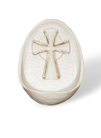 Alabaster Cross Small Size Holy Water Font   Italy