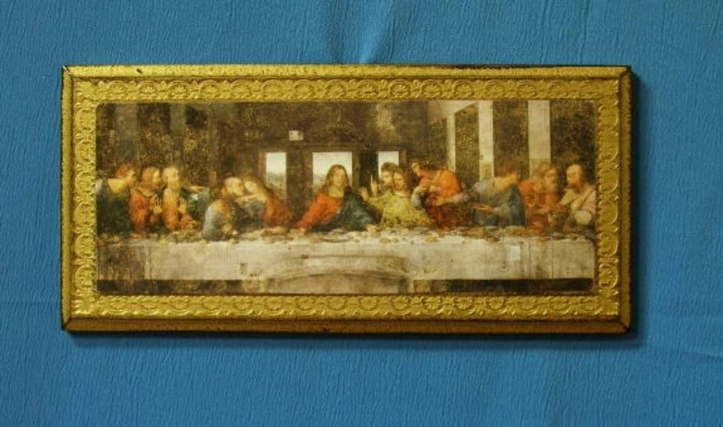 Last Supper Of Jesus Florentine Icon Wood Plaque Italy