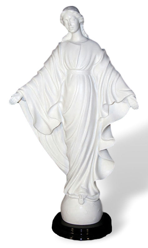 Madonna Our Lady of Smiles Alabaster Statue   By Ennio Furiesi Made In Italy