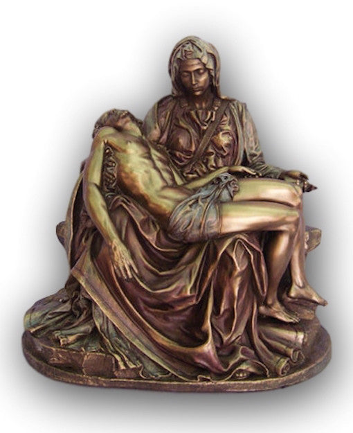 The Pieta Statue Blessed Mother Holding Crucified Son Jesus Michael Angelo