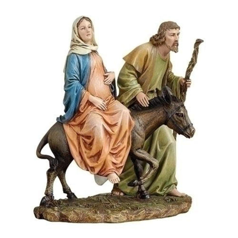 La Posada Figure Joseph with Mary on their way to Bethlehem  Joseph Studios