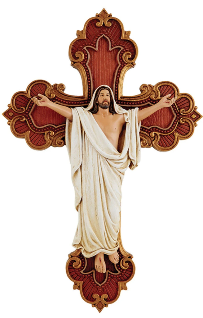 Risen Jesus wall cross for home or chapel