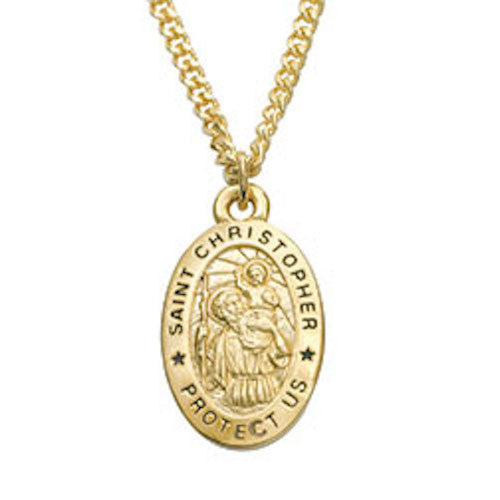 Saint Christopher Medal On Chain -  For Protection