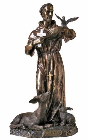 Saint Francis With Animals Statue Large 36 Tall  Veronese Collection
